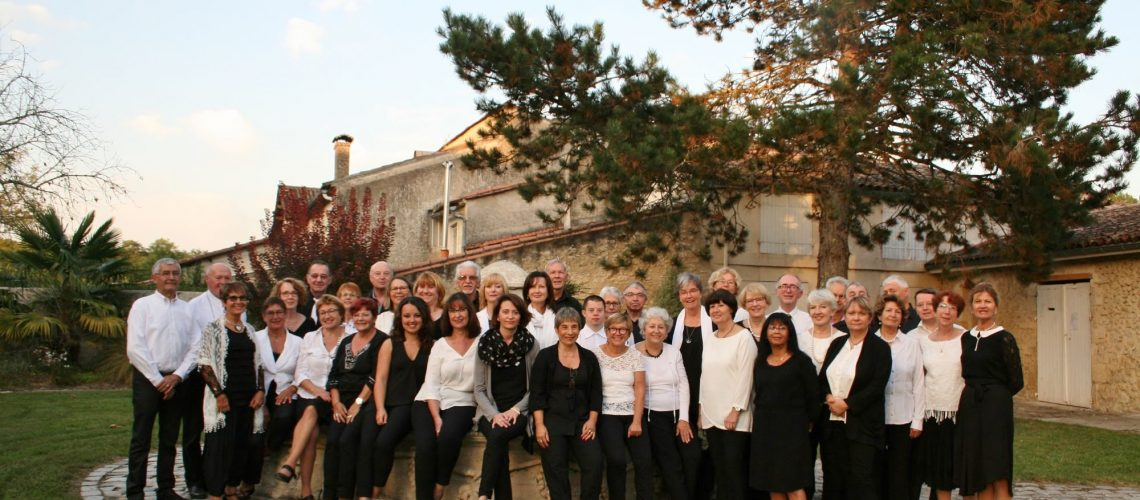 L'ensemble vocal  St Selve  octobre 2017.